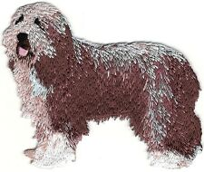 "3.25"" Brown Bearded Collie Dog Embroidery Patch"