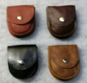 LEATHER SMALL POUCH /OFFICE / PELLETS / BUSHCRAFT / COSPLAY*NEW* WITH BELT LOOP