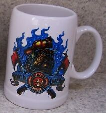Coffee Mug Fire Police Rescue First In Last Out New 20 ounce cup with gift box