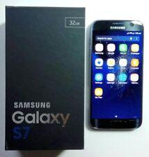 Samsung Galaxy S7 SM-G930F 32GB Unlocked Smartphone - Black - Damaged Screen