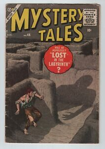 Atlas Horror 1956 MYSTERY TALES No. 44 VG 4.0 The Labyrinth & Williamson Sci-Fi