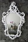 Miroir mural Blanc Baroque Ovale Haute Brillance jeunes encore de sale bain