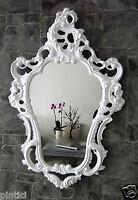Wandspiegel Weiß Barock Oval Hochglanz Jugendstill Badspiegel 50X76 3039w