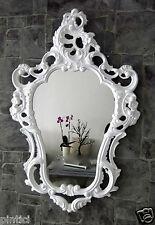 Espejo de Pared Blanco Barroco OVALADO alto brillo estilo moderno baño 50x76