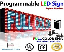 """WiFi Open Close Led Sign 7"""" x 26"""" Programmable Full Color Text Message Display"""