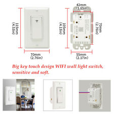 WiFi Smart Light Switch US Plug Neutral + Live Wire Control In-Wall Switch