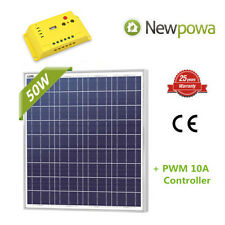 50W 12V Solar Panel + PWM 10A Charge Controller Regulator RV Marine Kit 50 Watts