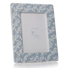 CERAMIC PRAIRIE BLUE PRINTED PHOTO FRAME 5 x 7. Flower print. RSPB. Floral,gift