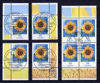 Bund Blumen 2434 gestempelt Vollstempel Eckrand oder Viererblock ETSST BRD 2005