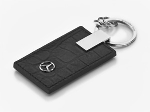 Mercedes-Benz Key Ring Moscow Black Leather B66953743 Genuine New