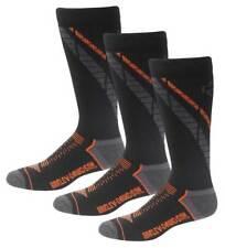 Harley-Davidson Men's Side Cushion Coolmax Riding Socks, 3 Pairs D99219270-001