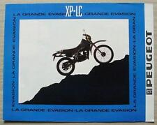 PEUGEOT XP-LC 50cc MOTORCYCLE Sales Brochure Mid 1980s FRENCH TEXT
