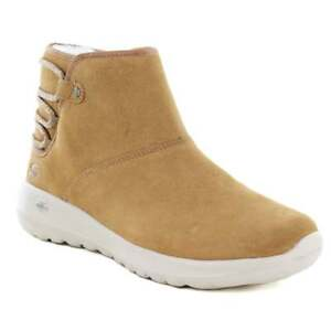 SKECHERS On The Go Joy-Aglow Womens Leather Ankle Boots - Light Chestnut