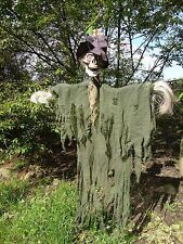Halloween Hanging Speaking SKELETON Scarecrow Decoration Light & sound FREE P&P