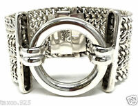 TAXCO MEXICAN 925 STERLING SILVER CHAIN LINK BAND BRACELET MEXICO