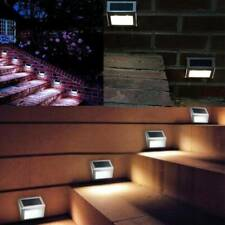 6x Outdoor Garden LED Solar Powered Fence Deck Wall Step Lights Stairs Path Lamp
