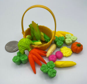 Barbie DollHouse DIORAMA Food Accessory GROCERY KITCHEN VEGETABLE BASKET
