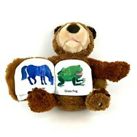 Zoobies Eric Carle Brown Bear Book Buddy Plush Storybook Stuffed Animal