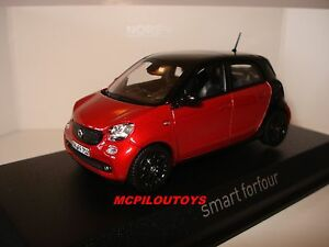 Norev Smart Forfour Negro & Red 2015A 1/43°