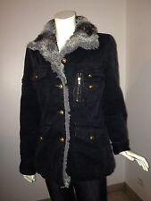 LIU.JO, manteau,noir doublure fourrée, taille 36
