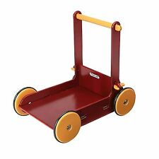 Moover Baby / Child Wooden Baby Walker / Toy Walking Aid, Red