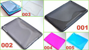 Silikon Case TPU Slim Tasche Schutz hülle Flip Etui Cover Apple iPad mini 2 / 3
