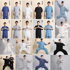 Flax Linen Kung fu Martial art Tai Chi Suit Wing Chun Shaolin Uniforms Clothes