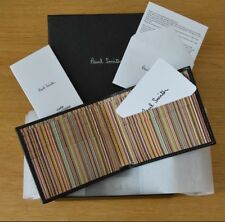 Paul Smith Black Leather Signature Stripe Interior Billfold Wallet