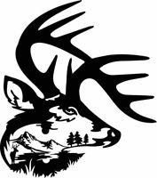 Die Cut Vinyl Decal  Bull Elk Hunting Sportsman 20 Colors Car Truck ATV #A79