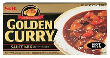 240g S&B HOT GOLDEN Curry Salsa MIX giapponese, japan per carne di Maiale Pollo Gamberetti