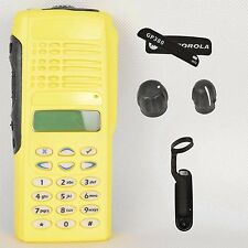 Yellow Replacement housing case for Motorola GP380( LCD+Ribbon Cable+Speaker+mic