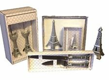 8 pc  Eiffel Tower wedding set knife glasses pen guest book cake top Paris