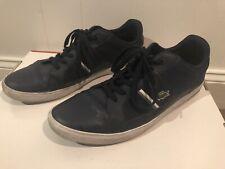 LACOSTE Men's Navy Blue Leather Croc Lace Tennis Shoes Size 13 M