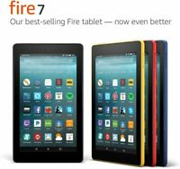 "Amazon Fire 7"" (2017 -7th Gen) WiFi Tablet, Touchscreen, Alexa, Dual-Band - New!"