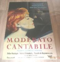 A1-Filmplakat  MONDERATO CANTABILE , JEAN PAUL BELMONDO,JEANNE MOREAU