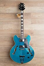 Wolf KSA50 Sky Blue Semi-Hollowbody (ES-335 style) Trapeze Electric Guitar