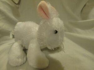 Cute Soft Plush GANZ WEBKINZ LIL'KINZ White Bunny Rabbit HM078 No Code