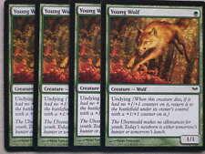 XXX 4x young Wolf inglés Dark Ascension (Wolf Undying Green) nearmint XXX XXX
