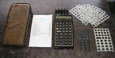More details for hewlett packard hp 41cx calculator + case + overlays + instructions + aviation