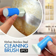 2pc Magic Stainless Steel Rust Remover Cleaning Detergent Stick Metal Wash Brush