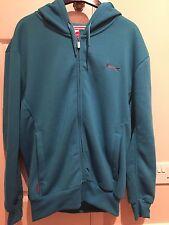 Mens Slazenger Light Blue Zipped Fasten Jacket With Hood Size Small