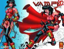 VAMPI SeXy #1 COVER  LIMITED EDITION  CHROME POSTER Anime Manga KEVIN LAU ~ RARE