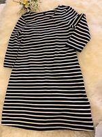 Gap new Black & white striped dress size medium super stretch