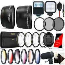 58mm Macro Kit + Color Filter Top Lens Accessory Kit for Canon DSLR Cameras