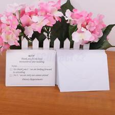 50pcs Wedding Reception RSVP Reply Response Cards and Envelopes