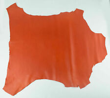 NOORA ORANGE ITALIAN Lambskin sheep leather hide skin hides nappa WA520