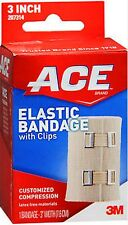 "ACE Bandage  w/ Clips (Hook Closure) 3"" Boxed"