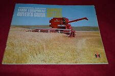 International Harvester Buyers Guide For SummerFall 1967 Dealers Brochure YABE6