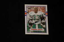 SAMMIE SMITH 1989 TOPPS TRADED ROOKIE SIGNED AUTOGRAPHED CARD #56T DOLPHINS