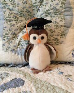 Wise 1998 Graduation Beanie Baby Owl. MWMT